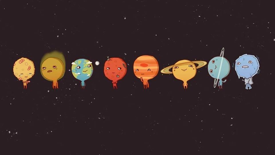 الكواكب والأفلاك في الأرض المسطحة