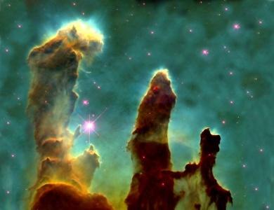 صورة مفبركة لسديم النسر Eagle Nebula